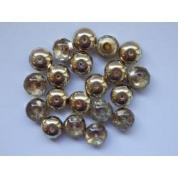 Koblihy 9 mm krystal/zlaté...