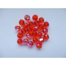 Broušené kuličky 8 mm rubín/AB