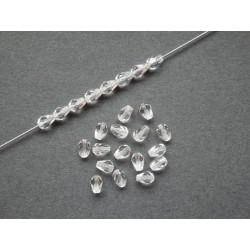 Hrušky 7/5 mm  krystal