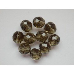 Broušené kuličky 10 mm šedá