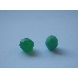 ROUND BEADS 8 mm, GREEN OPAL