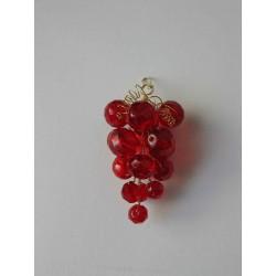 Hrozínek červený  6 x 3 cm