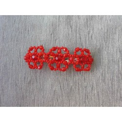 FRENCH HAIR CLIP, 6 cm, RED...