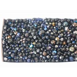 MIX různých perlí 250 g černá