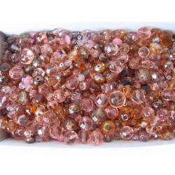MIX různých perlí 250 g růžová