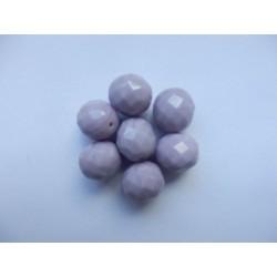 Broušené kuličky 12 mm fialová