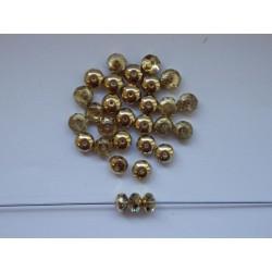 Koblihy 7 mm krystal/zlaté...