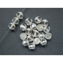 BOLS BEADS 8 mm CRYSTAL/SILVER