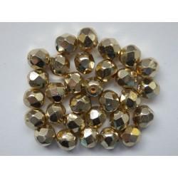 ROUND BEADS 6 mm, GOLD APOLLO