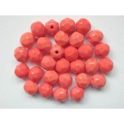 ROUND BEADS 6 mm RED/ORANGE