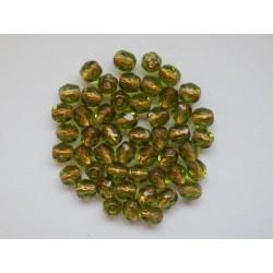 ROUND BEADS 4 mm, GREEN...