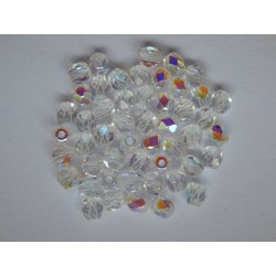 ROUND BEADS 4 mm, CRYSTAL/AB