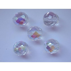 ROUND BEADS 14 mm, CRYSTAL/AB