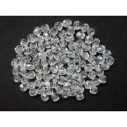 ROUND BEADS 3 mm, CRYSTAL
