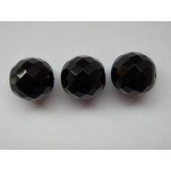 ROUND BEADS 14 mm, BLACK