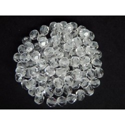 ROUND BEADS 5 mm, CRYSTAL