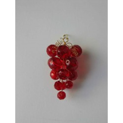 WINE GRAPE,  6 x 3 cm, RED