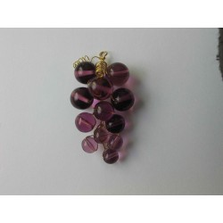 WINE GRAPE, 6 x 3 cm, LILA