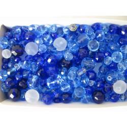 Mix různých perlí 250 g modrá
