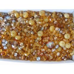 Mix různých perlí 250 g topas