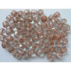BOLS BEADS 8 MM CRYSTAL/COPPER