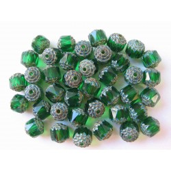 BOLS BEAD, GREEN/TRAVERTIN