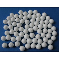 PRESSED BEAD 8 MM WHITE