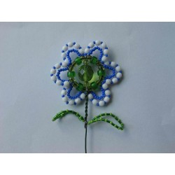 FLOWER- BEAD STICK, BLUE