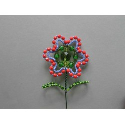 FLOWER BEAD STICK, PINK