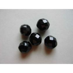 ROUND BEAD 12 MM BLACK