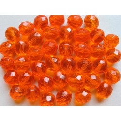 ROUND BEAD 10 MM ORANGE