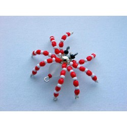 SMALL SPIDER 4,5 CM- RED/WHITE