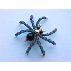 SMALL SPIDER 4,5 CM- BLUE/RED