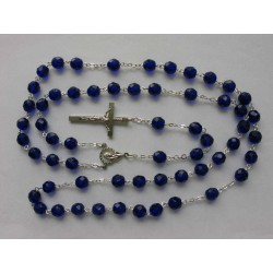 ROSARY - ROUD BEADS 8 mm BLUE
