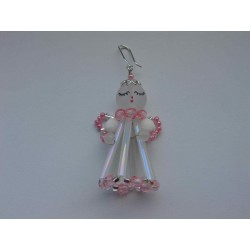 SMALL ANGEL, 4 cm, PINK/WHITE
