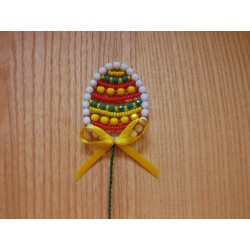 EASTER EGG- BEAD STICK, YELLOW