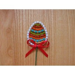 EASTER EGG- BEAD STICK, RED