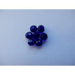 Broušené kuličky 8 mm safír